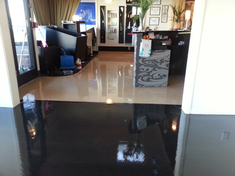 Best looking salon floors in the city crestclean for A cutting edge salon