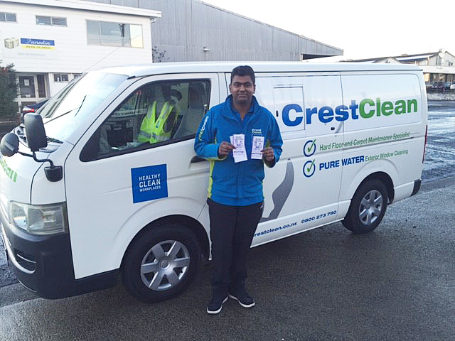 There's plenty of room for an expanding business as Nitij Maharaj found with his Toyota Hiace.