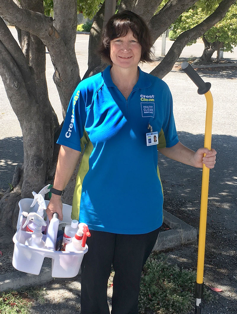 Bernie Brown loves running her own cleaning business in Alexandra.