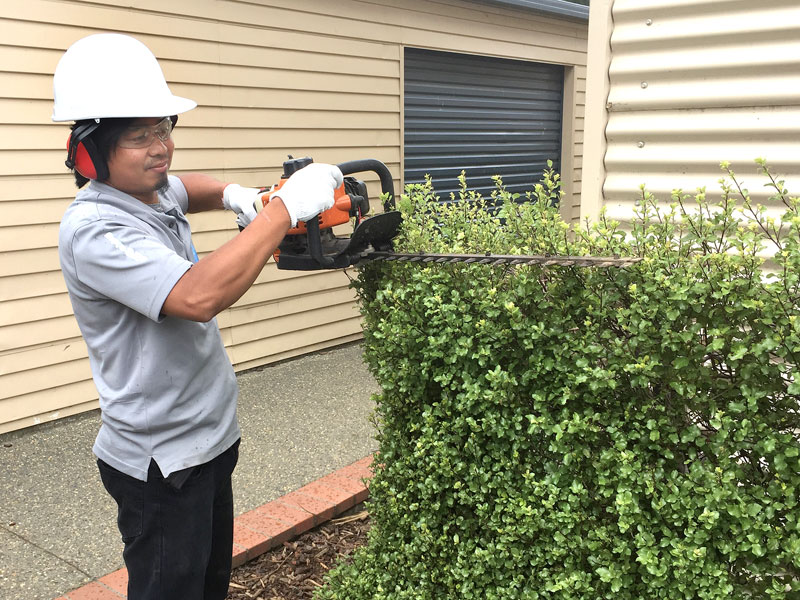 Harold Magannig looks after the caretaking duties at Waihopai School, Invercargill.