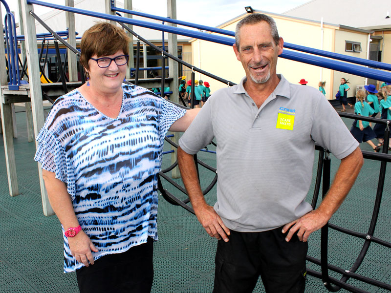 Kath Joblin, Principal St Thomas More Catholic School, says Mike Warnes has made a huge impact in his role as the caretaker.