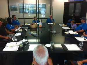 Hawkes Bay CrestClean personnel in their bi-monthly meeting