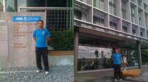 Pinakin Patel is proud to be cleaning in the new ANZ Centre, a brand new office complex in Tauranga.