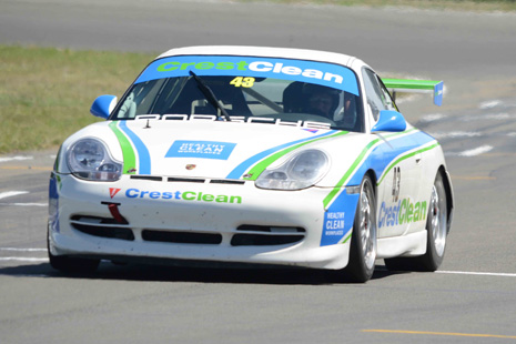 CrestClean Porsche GT3 in action