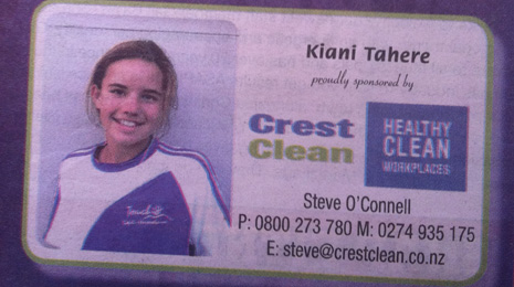 CrestClean Kapiti Coast sponsors youth touch Rugby