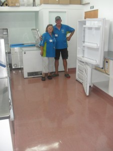 Pictured is Micheal and Jean Dellow with their fantastically polished floors