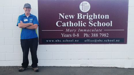 Pictured is franchisee Jason Dalziel proudly standing outside his newest School customer.