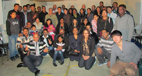 Auckland East franchisee teams and their families