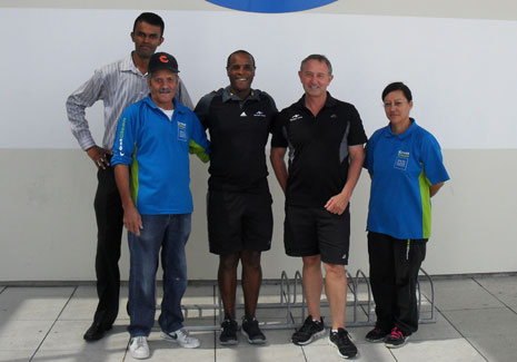 Pictured from left to right; CrestClean Regional Director Neil Kumar, CrestClean Franchisee Collin Ogle, Northern Arena Supervisors Mike and Mark, and CrestClean Franchisee Ruth Ogle.