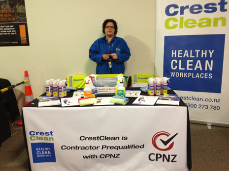 Pictured is CrestClean Franchisee and Induction Trainer Mel Fearn