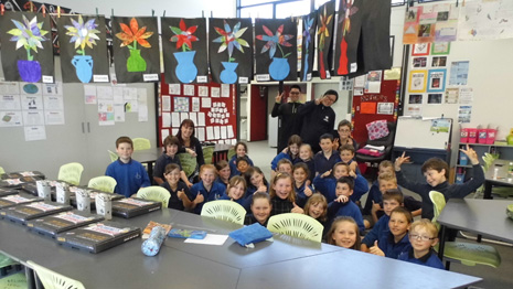 Franchisees Michael and Dan with Waiau Classroom