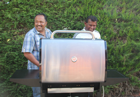 Pictured above are BBQ experts William John and Gayan Raju