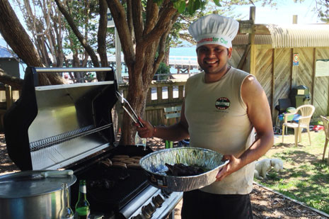 Operations Manager Dan Sharma was the 'Christmas'ter Chef
