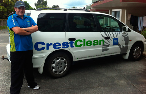 Hamish McGregor is embracing Crest's new Pure Water Window Cleaning System to utilise its benefits.