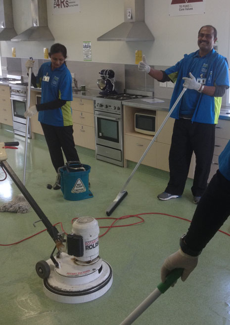 CrestClean franchisees give the Hard Floor Care training course a thumbs up.