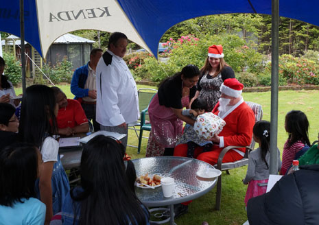 All the children of Invercargill have been good this year, according to Santa, who made a special stop at the CrestClean region's Christmas party.
