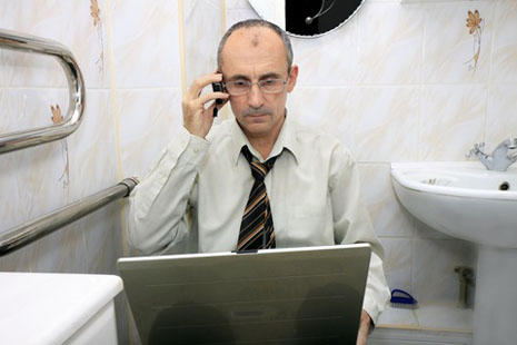 Finally, some time alone. Clean, hygienic workplace washrooms are more important now than ever.