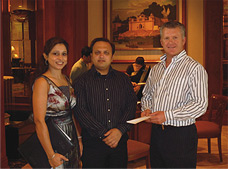 CrestClean India's Shikha and Ajit Jain with Grant McLauchlan from CrestClean New Zealand.