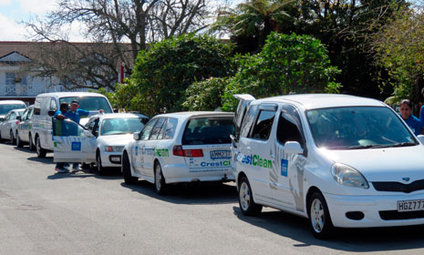 36 CrestClean vehicles were audited before the team meeting that was held at Wylie Court Motor Lodge in Rotorua.