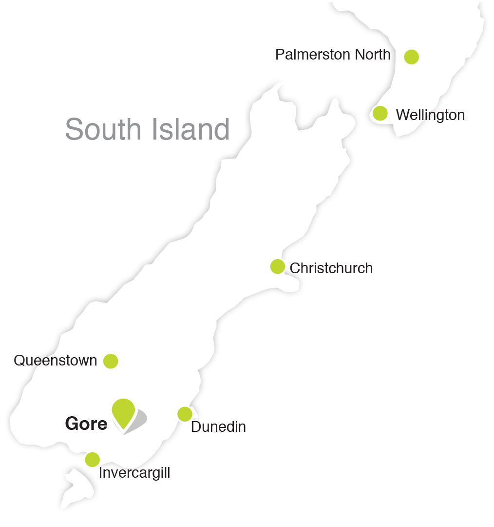 Gore location map