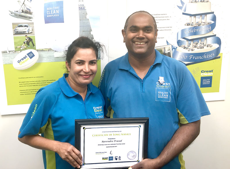 Roshni and Ravendra Prasad have been with CrestClean for three years and run a successful business.